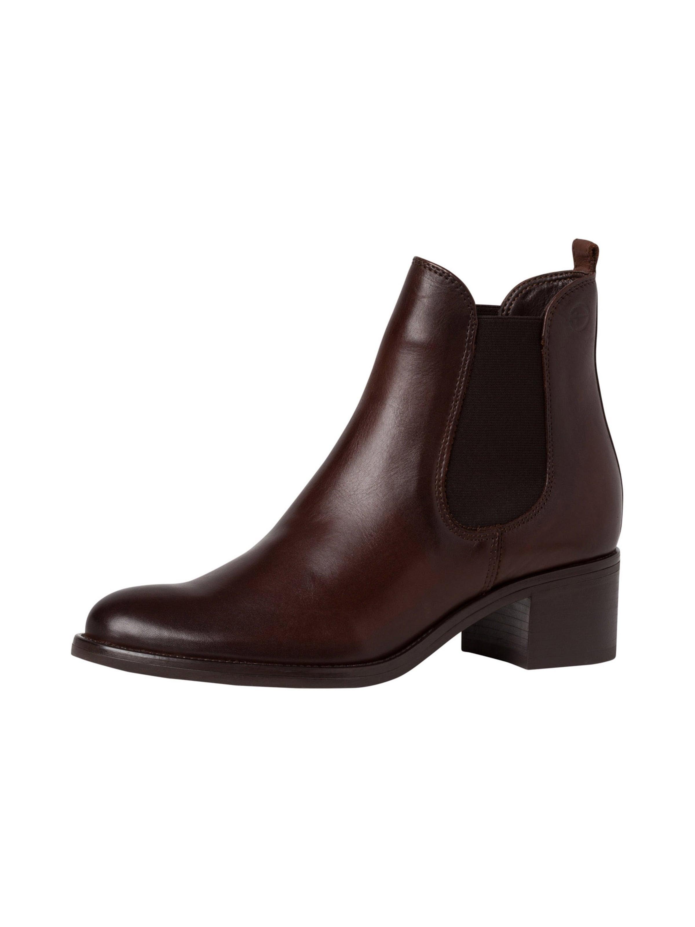 TAMARIS Chelsea boots i mörkbrun