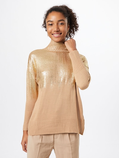 Trendyol Pullover i beige / guld, Modelvisning