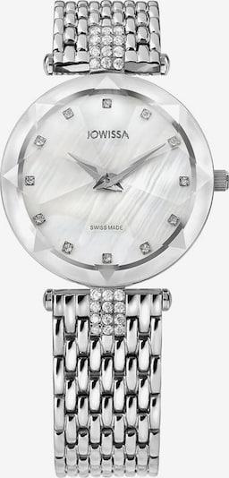 JOWISSA Quarzuhr 'Facet Strass' Swiss Ladies Watch in silber / weiß, Produktansicht