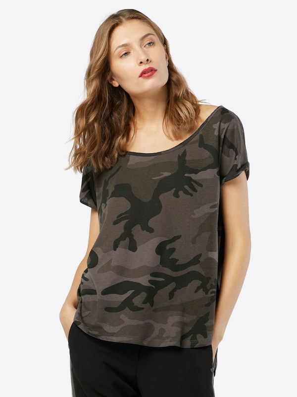 Urban Classics T-Shirt 'Camo Back Shaped'