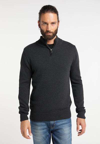 DREIMASTER Pullover in schwarz: Frontalansicht