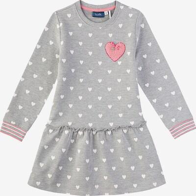 Sanetta Kidswear Kleid in grau / rosa / weiß, Produktansicht