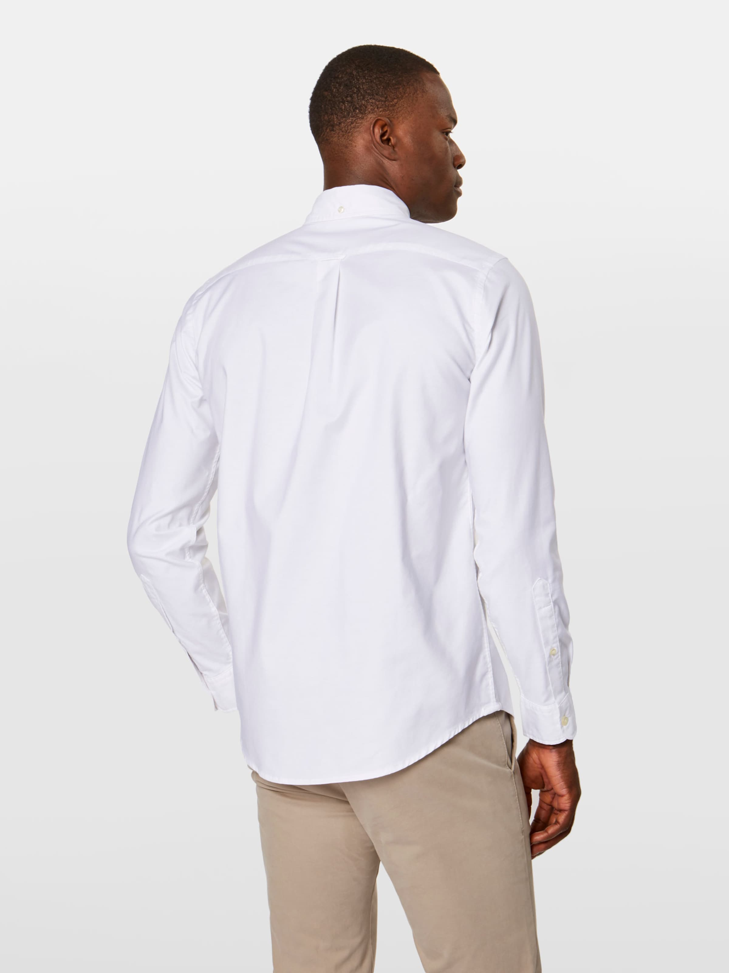 In Shirt' Oxford Dockers Overhemd 'stretch Wit nWfnZa