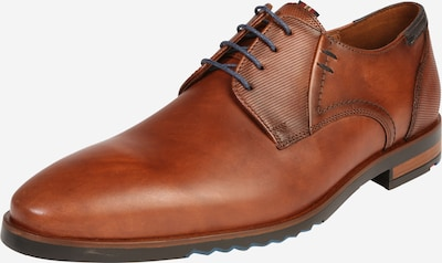 LLOYD Lace-up shoe in navy / cognac, Item view