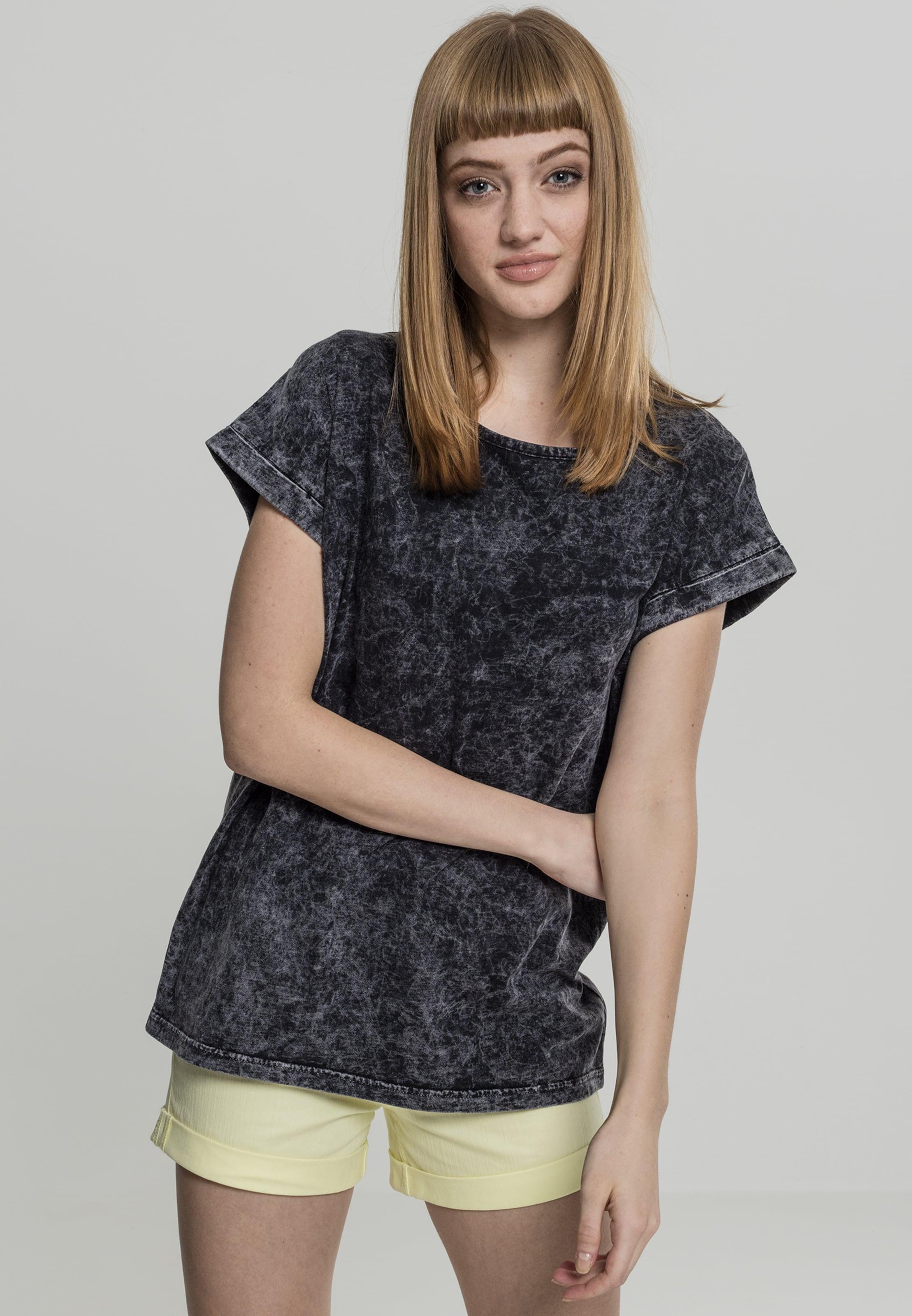 Urban Gris 'extended FoncéNoir Curvy Tee' En shirt Shoulder Classics T W2EIDH9Y