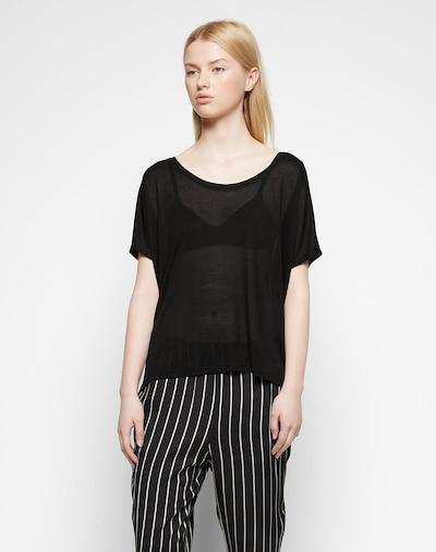 mbym Oversized shirt 'Proud' in de kleur Zwart: Vooraanzicht