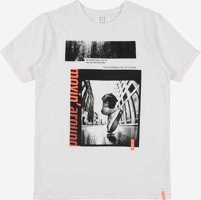STACCATO T-Shirt en noir / blanc: Vue de face