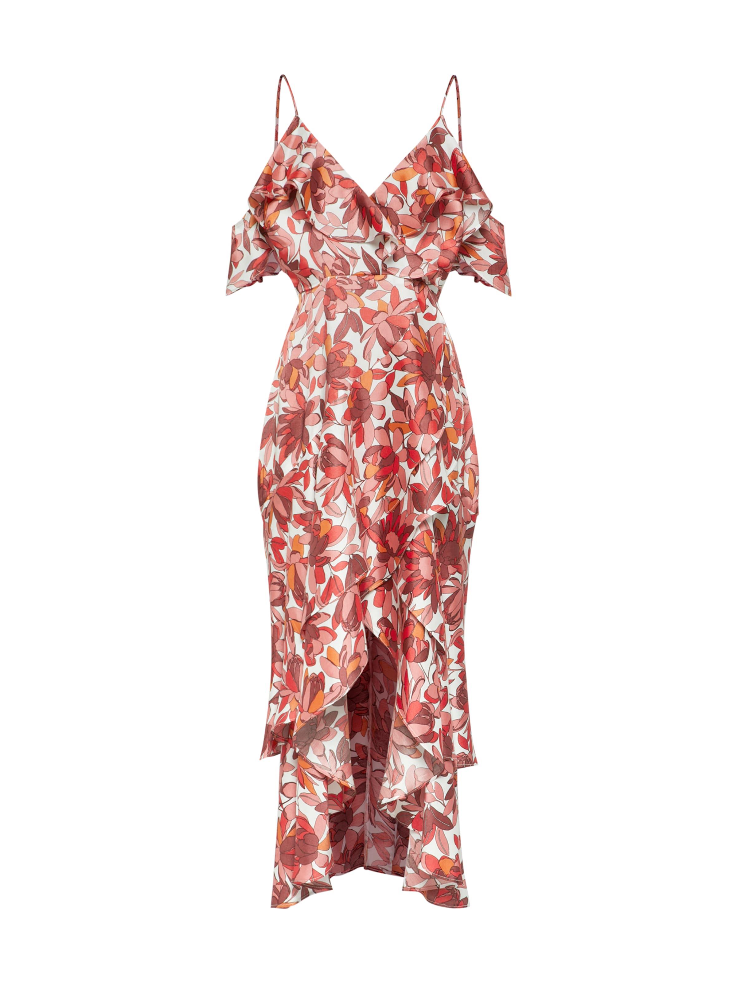 'frankie' OrangeRot Kleid In Bardot Weiß BoerCQdxW