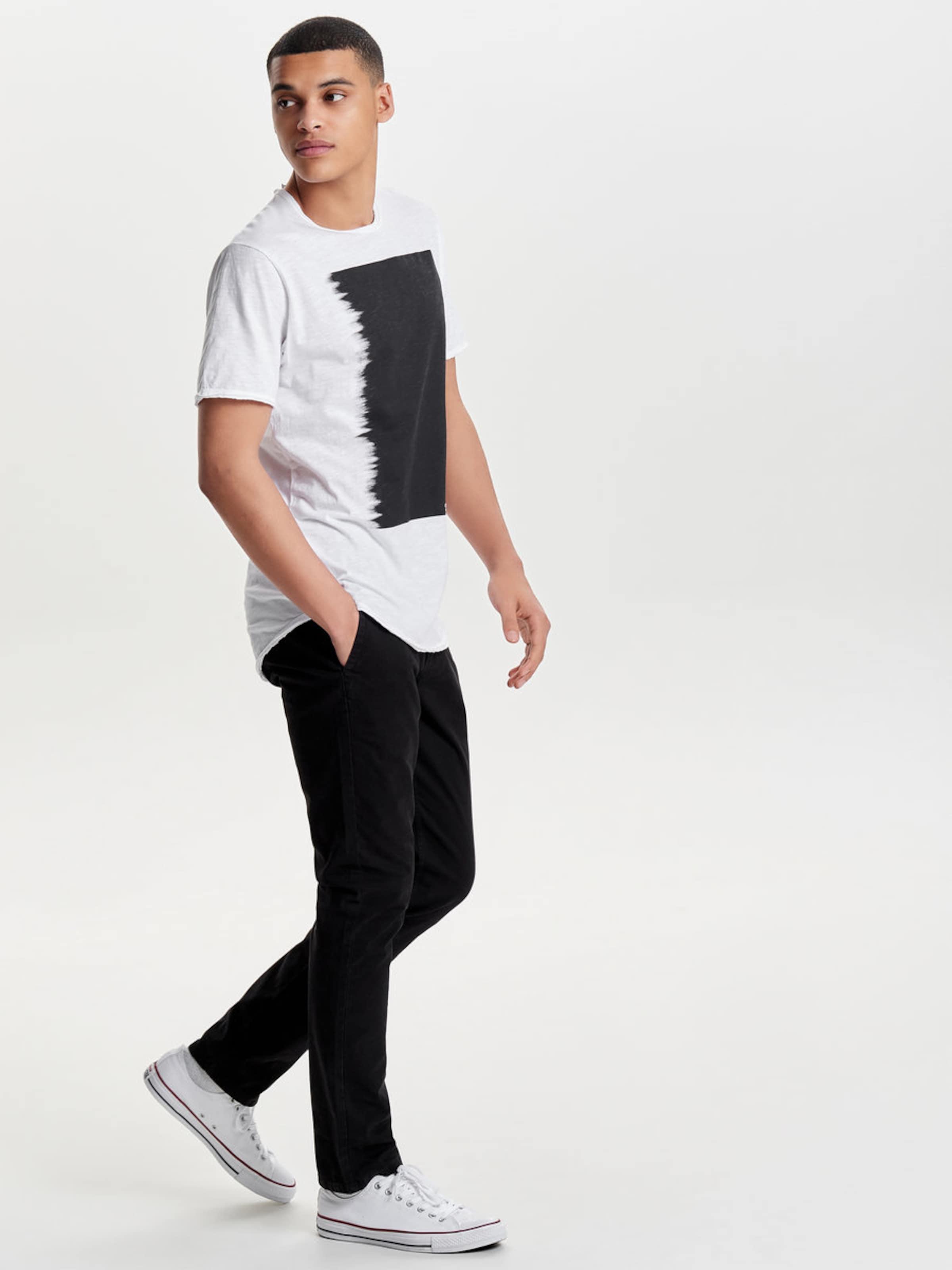 Only & Sons Kontrastreiches T-Shirt Verkauf Wirklich CY4c1hx