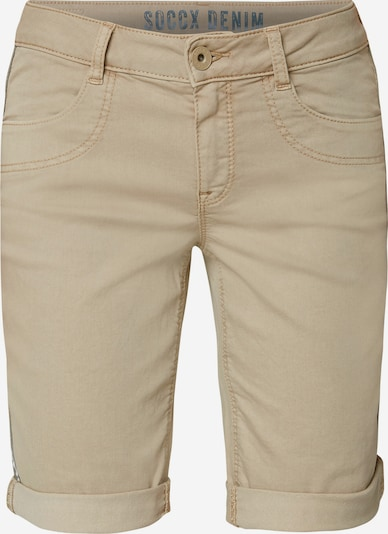 Soccx Coloured Jeansshorts DE:BY in beige, Produktansicht