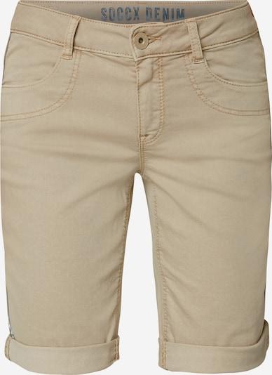 Soccx Coloured Jeansshorts DE:BY in beige: Frontalansicht