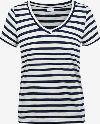 JACQUELINE de YONG T-Shirt 'Leonie' in blau / naturweiß: Frontalansicht