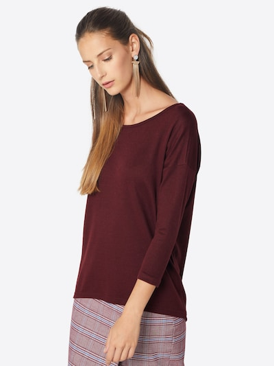 ONLY Shirt 'Elcos' in Wine red: Frontal view
