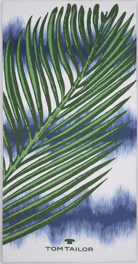 TOM TAILOR Bath Strandtuch mit tropischem Print in blau: Frontalansicht