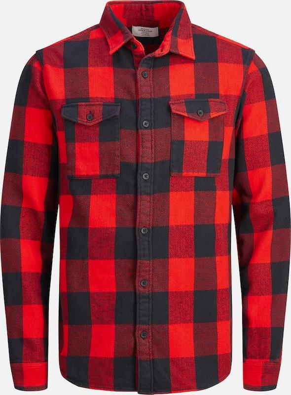 JACK & JONES Hemd in rot   schwarz  Großer Rabatt