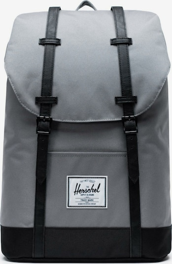 Herschel Rucksack  'Retreat' in grau / schwarz, Produktansicht