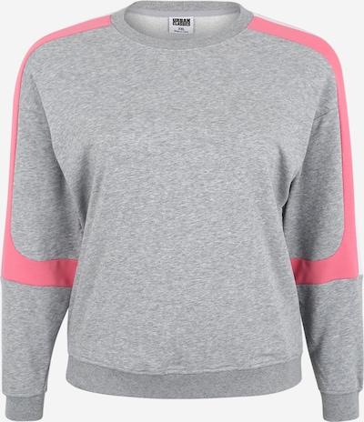 Urban Classics Curvy Sweatshirt in de kleur Grijs / Pink, Productweergave