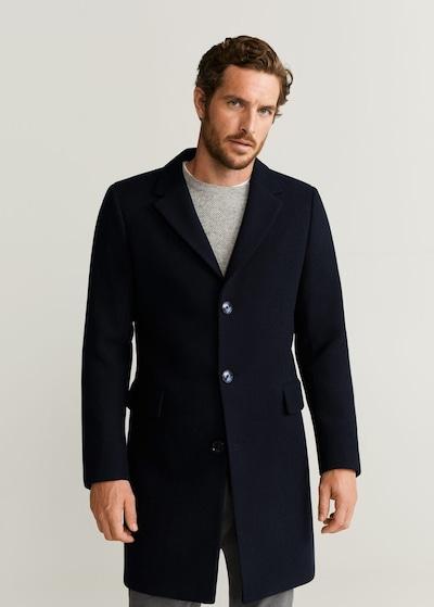 MANGO MAN Manteau mi-saison 'arizona6' en bleu nuit, Vue avec modèle