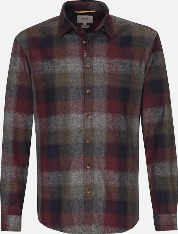 CAMEL ACTIVE Hemd in dunkelblau   grau   rot  Markenkleidung für Männer und Frauen