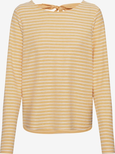 ONLY Trui 'ONLELLY STRIPE TOP' in de kleur Geel / Wit: Vooraanzicht
