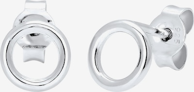ELLI Ohrringe 'Kreis' in silber, Produktansicht
