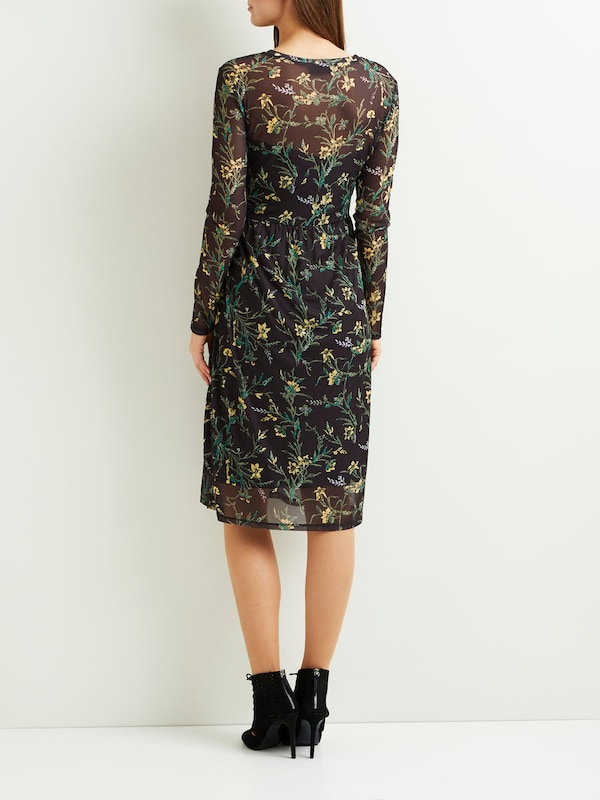 Object Patterned Dress With Long Sleeves Objmarianna