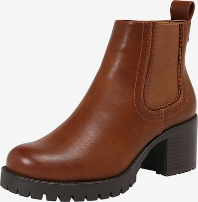 ABOUT YOU Bottines 'Mathilde' en marron: Vue de face