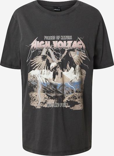 Gina Tricot Shirt 'Ellie tee' in schwarz, Produktansicht