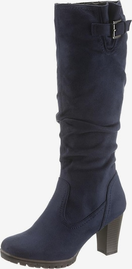 CITY WALK Stiefel in taubenblau / braun, Produktansicht