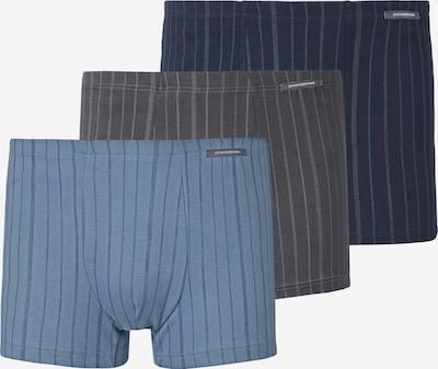Jan Vanderstorm Boxershorts in de kleur Lichtblauw / Donkerblauw / Bruin, Productweergave