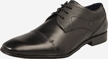 Pantofi cu șireturi de la bugatti pe negru