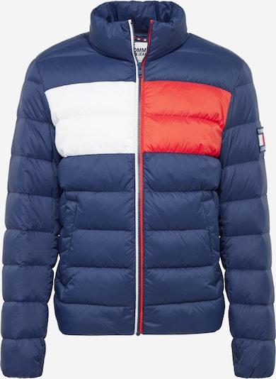 Tommy Jeans Winterjacke ' TJM Essential Down ' in dunkelblau / rot / weiß, Produktansicht