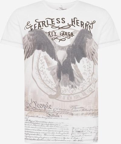 Key Largo T-Shirt 'MT FEARLESS' in offwhite, Produktansicht