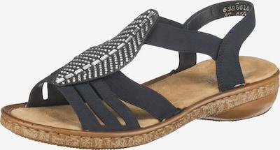 RIEKER Sandalen met riem in de kleur Nachtblauw: Vooraanzicht