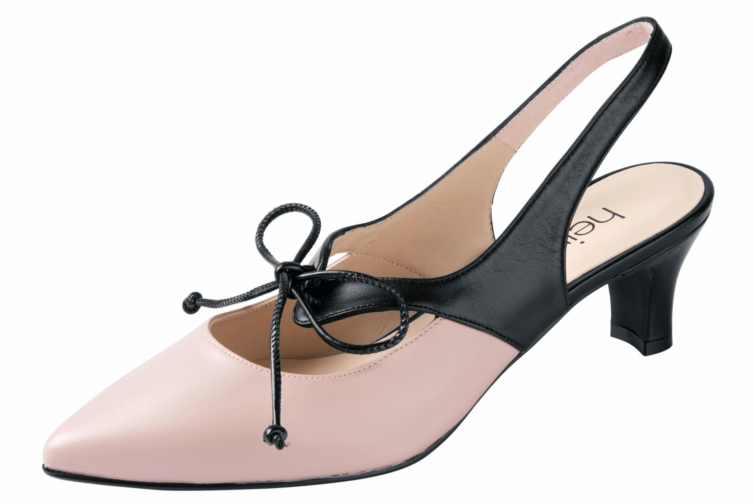 heine | Schuhe Slingpumps mit kleiner Schnürung Schuhe | Gut getragene Schuhe 3325ff