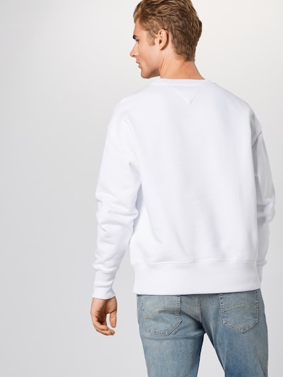 Tommy Jeans Sweat-shirt en blanc: Vue de dos