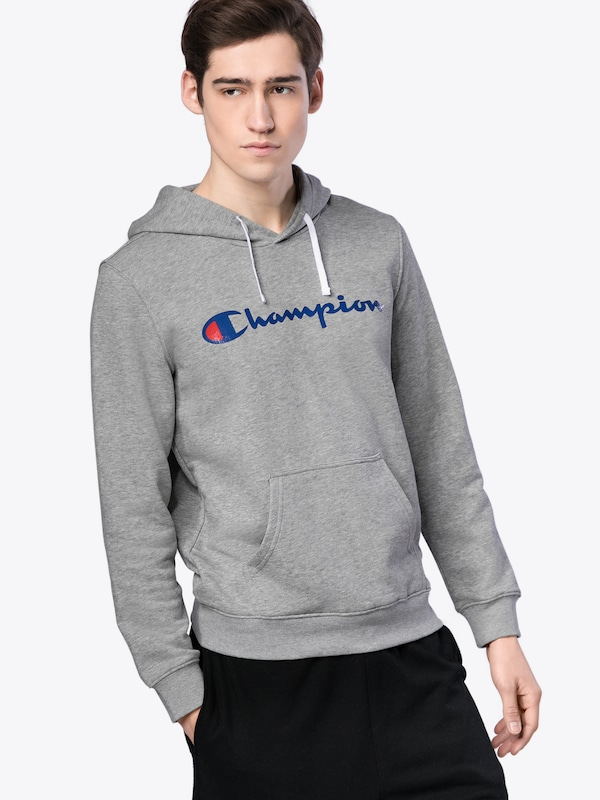 champion authentic athletic apparel hoodie mit label print. Black Bedroom Furniture Sets. Home Design Ideas