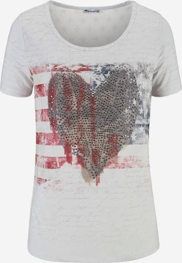 Aniston CASUAL T-Shirt in hellgrau / rot, Produktansicht