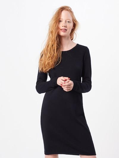 EDC BY ESPRIT Kleid in schwarz: Frontalansicht