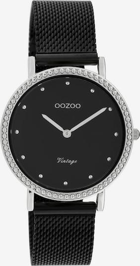 OOZOO Uhr in schwarz / silber, Produktansicht