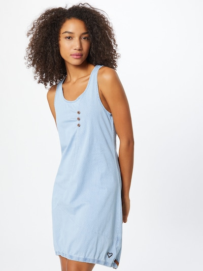 Alife and Kickin Kleid 'Cameron' in blue denim / hellblau, Modelansicht