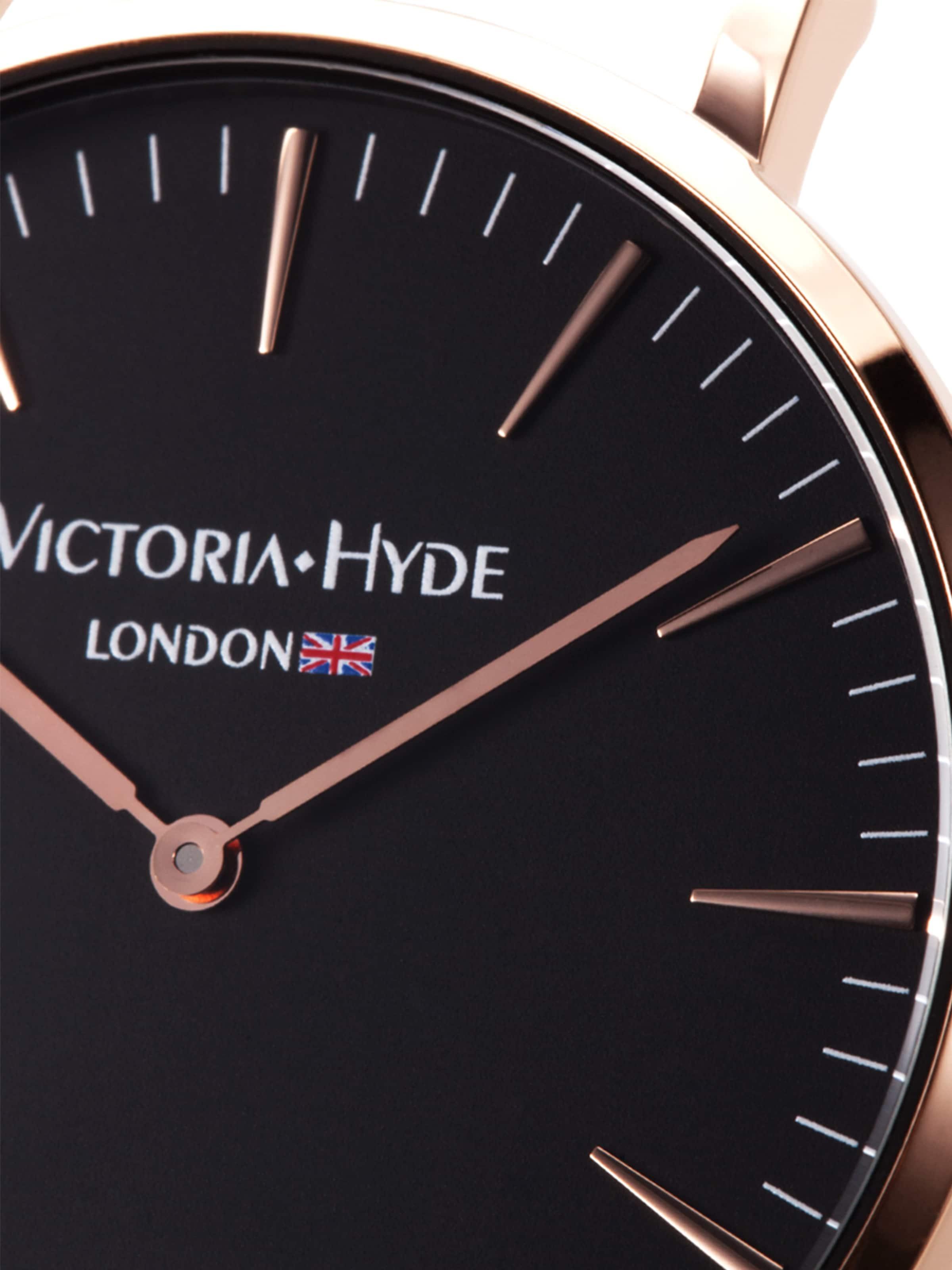 Or Victoria Montre En Digitale Hyde RoseNoir 345jRAL