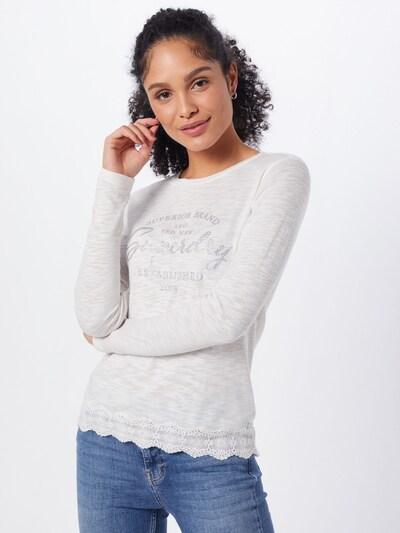 Superdry T-shirt en blanc, Vue avec modèle