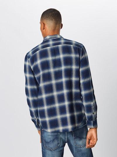 GAP Košile 'NOVELTY WESTERN - BLUE HERRINGBONE' - tmavě modrá / černá: Pohled zezadu