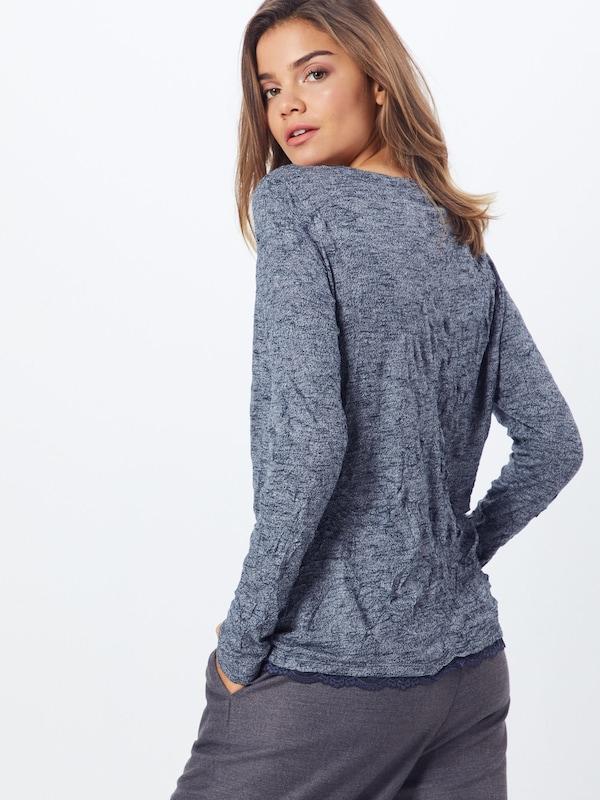 T shirt Tom 'crincle' Bleu En Foncé Tailor TJF3lK1c