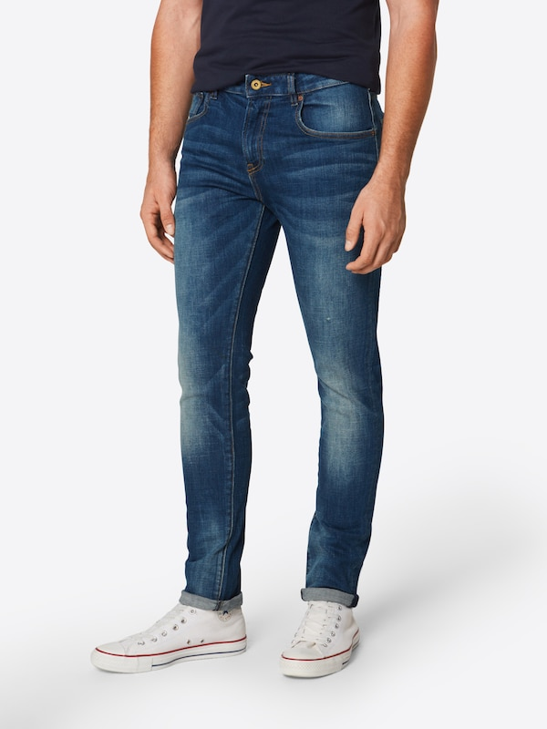 SCOTCH & SODA Jeans 'NOS Skim - Kimono Yes' in blue denim, Modelansicht