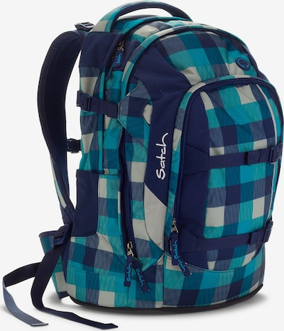 Satch Rucksack 'Pack' in blau / türkis / himmelblau / weiß, Produktansicht