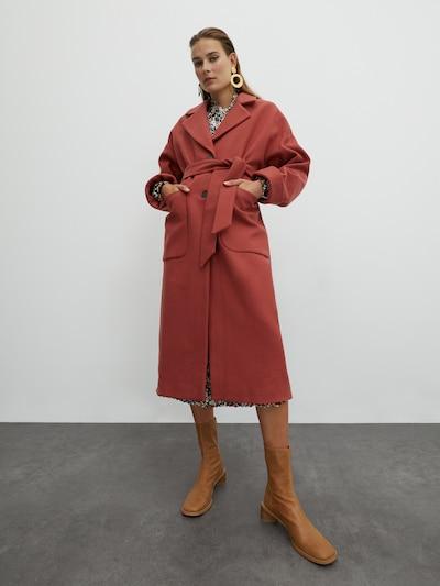 EDITED Manteau mi-saison 'Santo' en marron, Vue avec modèle