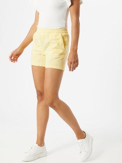 PIECES Spodnie 'CALONDA' w kolorze pastelowo-żółtym: Widok z przodu