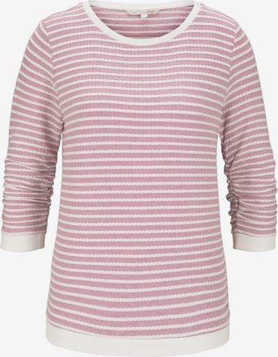 TOM TAILOR DENIM Sweatshirt in rosa / weiß, Produktansicht